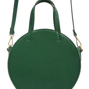 Forever 21 Faux Leather Circle Bag Green NWOT
